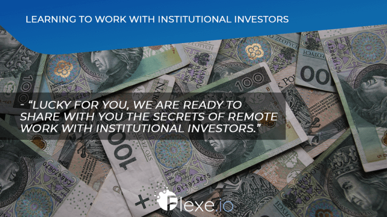 Learning to raise money with institutional investors