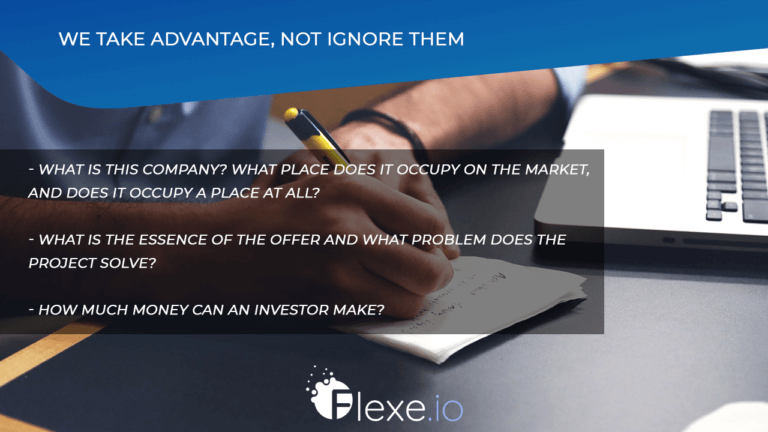 We take advantage, not ignore them