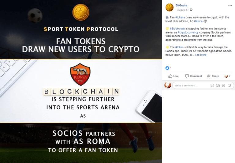BitGoals post screenshot